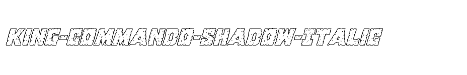 font King-Commando-Shadow-Italic download